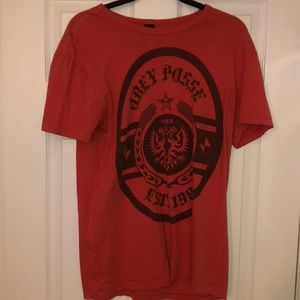 Obey Men's Red T-Shirt